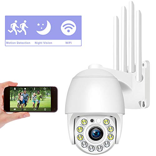 1080P Videocamera Sorveglianza Wi-Fi, Aottom Telecamera di Sorveglianza WiFi da Esterno e Interno, Movimento Allarme, Messaggio Push, 40M Visione Notturna, Audio a 2 Vie, APP CamHi per SD Card