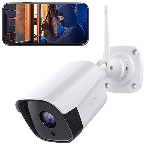 【2021 Aggiornato】Victure FHD 1080P Telecamera IP esterno, Telecamera di Sicurezza con Rilevamento di Suoni e Movimenti Telecamera WiFi con IP66 Visione Notturna Impermeabile 2 Vie Audio