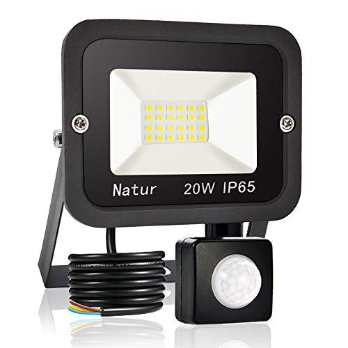 20W Faretto LED da Esterno con Sensore di Movimento,Bianco Caldo 3000K Faretto LED da esterno LED Floodlight, IP65 Impermeabile, per Parcheggio, Ingresso, Corridoio, Garage…