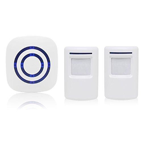 allarme di sicurezza, zaino Scuola sdoppiabile campanello di allarme rilevatore di presenza Portatile impermeabile segnalatore di porta 38Melodie, 2 sensori 1 recettore, 1
