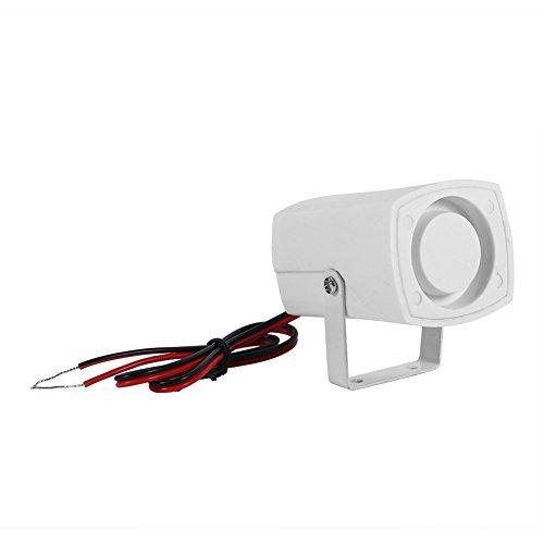 Allarme filare elettronico Sirena Wireless sensore Mini Forte Corno per Sistema di Allarme di Sicurezza per Casa con Supporto 110dB DC 12 V