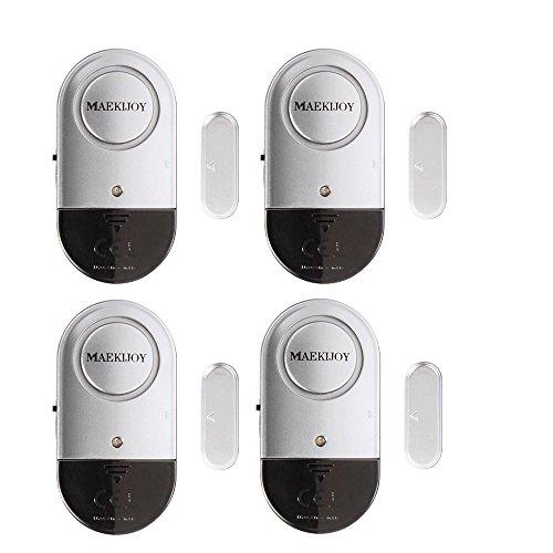 Allarme Finestra e Porta 120dB Sicurezza Casa Ultra Sottili Porta Finestra Allarme con Forte – Batterie Incluse – Set di 4