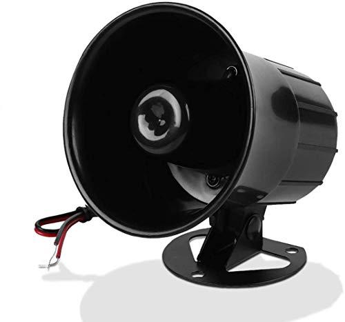 Altoparlante per sirena con allarme per sirena con cavo, sistema antifurto con scocca in ABS resistente al fuoco per sicurezza domestica all'aperto