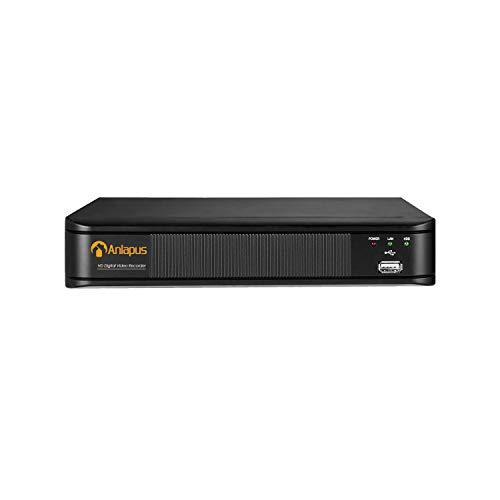 Anlapus 2MP 8 Canadi Videoregistratore Digitale, 8CH 1080P H.265+ DVR Sorveglianza, Compatibile con Telecamera di Sorveglianza AHD / TVI / CVI / CVBS 960H, No HDD