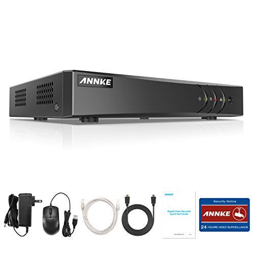 ANNKE TVI 5MP DVR 8 Canali Network Digital Video Recorder Video Sorveglianza Videoregistratore CCTV DVR/TVI/NVR Sicurezza di Sistema P2P Email Allarme 3 Snapshot Manuale Italiano senza HDD
