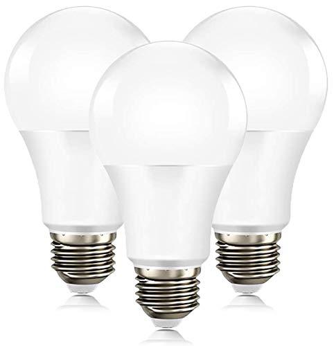 ANTING - Lampadina a LED E27 con sensore crepuscolare, 12 W, sostituisce 100 W, A19, 1000 lumen, spegnimento automatico, crepuscolo fino al mattino, 3 pezzi, bianco freddo (5000 K)