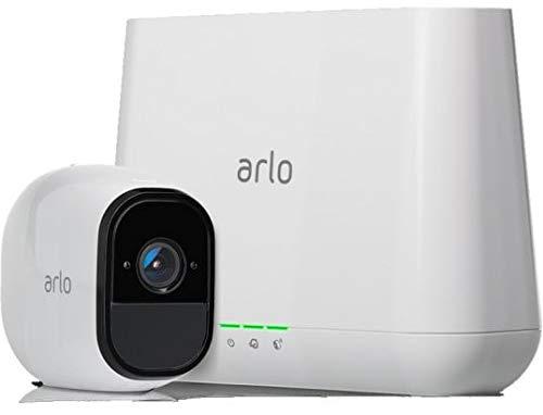 ARLO Pro VMS4130 Sistema di Videosorveglianza Wi-Fi, Kit Base con 1 Telecamera di Sicurezza, Audio a 2 Vie, HD, Visione Notturna,Interno/Esterno, Funziona con Alexa e Google Wi-Fi