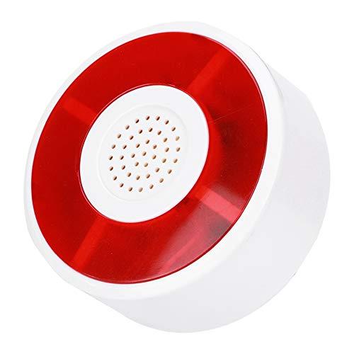 ASHATA Sistema di Allarme LED, Sirene di Allarme Allarme di Sicurezza Sirena DC 12V con Lampada Lampeggiante, Sistema di Allarme sonoro Esterno per Sirena per Home Office