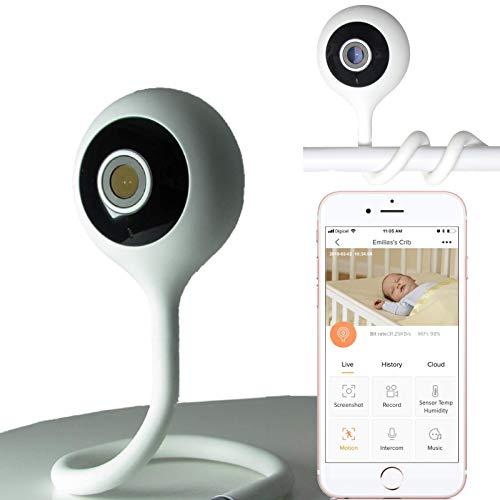 Baby CAMdy con sensore ambientale – Babyphone con videocamera WiFi. IP Camera HD 1080P. Regolabile culle per neonati. Fotocamera notturna Smart APP iOS/Android