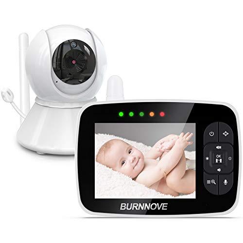 Baby Monitor 3.5 Pollici Baby Video Camera Remota Direzionale 2x Zoom Digitale con Modalità ECO Attivazione Vocale Visione Notturna Controllo Remoto Temperatura Stanza Ninne Nanne