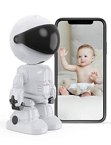 Baby Monitor Telecamera WiFi Interno, Eccomum Telecamera IP per Bambini/Animali Domestici/Anziani, Videocamera Interna con Visione Notturna e rilevazione di movimento con Audio Bidirezionale