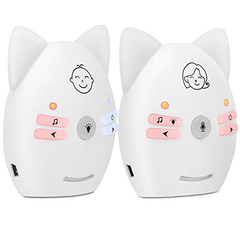 Baby monitor video con videocamera e audio, videocamera per neonati di sicurezza per animali domestici, con musica, luce notturna, conversazione bidirezionale, per la nuova mamma(ME)