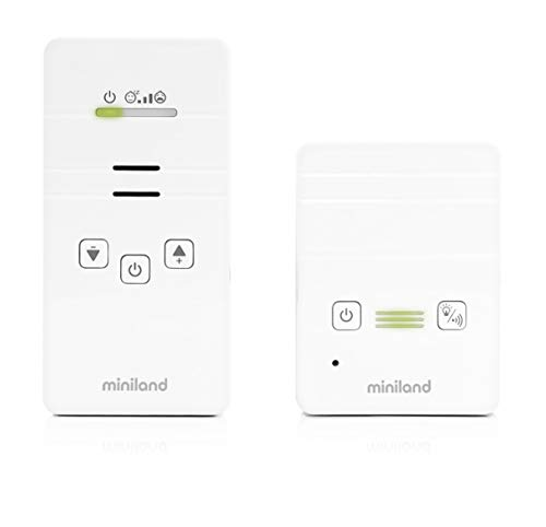 Babymonitor digitale con audio facile da usare e alta qualità del suono 89171 Miniland, Bianco