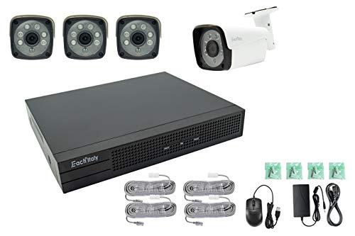 BES 24936 Kit Videosorveglianza Nvr Poe H264, 4 Telecamere, 2Mp Ip 4Ch