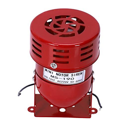 Binchil AC 220 V rosso metallo attacco aria sirena allarme clacson
