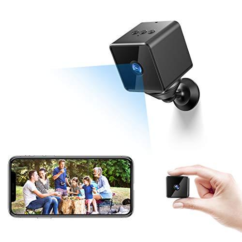 Bluetooth Mini Telecamera Spia Nascosta Wifi,MHDYT Senza Fili HD 1080P Micro Spy Cam con Cassa Bluetooth,Sensore di Movimento,Infrarossi y Batteria, Esterno/Interno Piccola IP Telecamera Sorveglianza