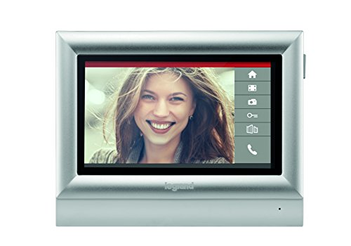 """BTicino 332453 Monitor a Colori Touch Screen 7"""" Posto Interno per Kit Videocitofono, 2 Fili"""