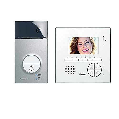 Bticino 363411 Kit Vivavoce Monofamiliare con Videocitofono e Pulsantiera, Bianco