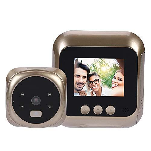 Campanello Video Wireless,Spioncino Elettronico Digitale,Peephole Viewer con Schermo LCD 2,4 Pollici+Videocamera HD+135 ° Angelo Largo+6 Suoneria+Visione Notturna IR per Sistema Sicurezza Domestica