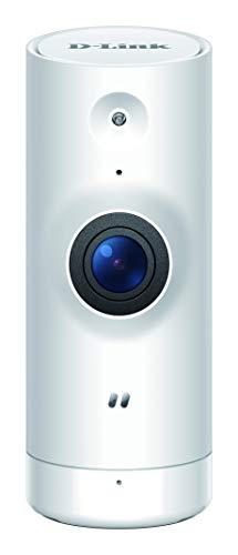 D-Link DCS-8000LHV2 Mini Telecamera Full HD con Intelligenza Artificiale, Wi-Fi, Visualizzazione Grandangolare 120°, 1080p, Bianco