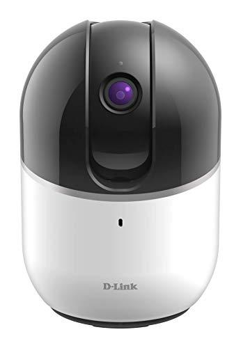 D-Link DCS-8515LH Telecamera di Sorveglianza HD, Motorizzata, Motion Tracking Automatico, Audio a 2 Vie, Slot per Micro SD, Funziona con Alexa