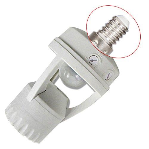 E27/E14/B22vite lampada lampadina a LED del sensore di movimento PIR a infrarossi con interruttore, White, E14