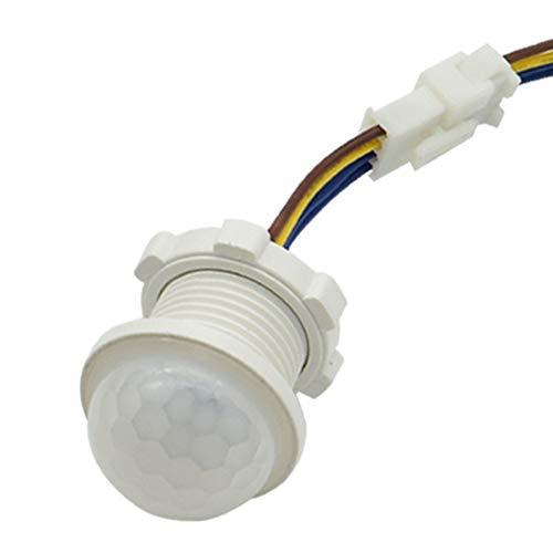 Esterno del corpo umano a infrarossi, sensore di movimento PIR interruttore luce notturna a infrarossi/LED/luce sensibile riconoscere/tempo di ritardo Home Wall Pavement, bianco