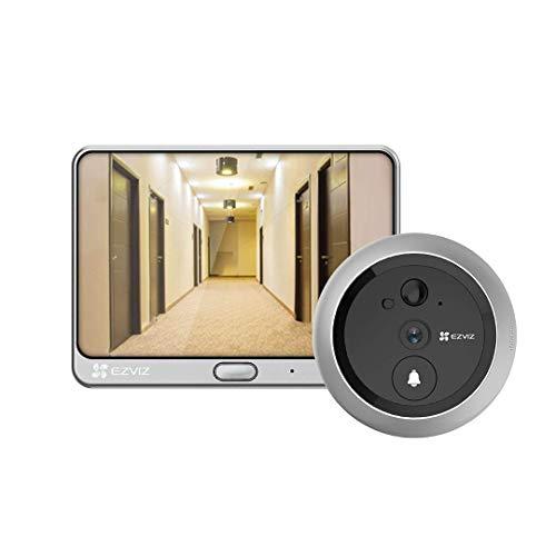 EZVIZ DP1C Wi-Fi Videocitofono Videocitofono, Campanello per telecamera per visione notturna wireless e 1x monitor da 4.3 pollici, monitoraggio tramite smartphone, rilevamento movimento PIR