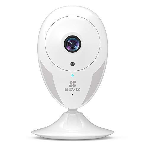 EZVIZ Telecamera da Interno IP Camera HD Telecamera Wi-Fi Interno Visione Notturna Eccellente Avviso Movimento Audio ad Due Vie Grandangolare App Mobile Compatibile con Alexa Modello CTQ2C