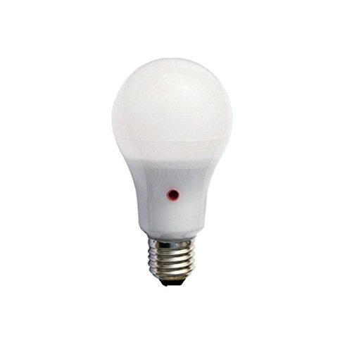 F-Bright - Lampadina LED standard, con sensore crepuscolare, attacco E27, 12 W, colore bianco, 12,5 x 6,5 cm