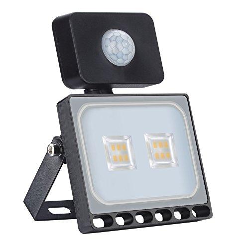 Faretto LED 10W con rilevatore di movimento Faretto LED super luminoso per esterno proiettore proiettore IP65 proiettore faretto luce per giardino, garage, campo sportivo, classe energetica A