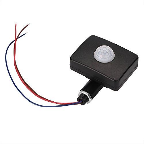Fdit Sensore Movimento ad Infrarossi PIR Rilevatore di Sensoridi Movimento LED Casa Giardino 90~250v