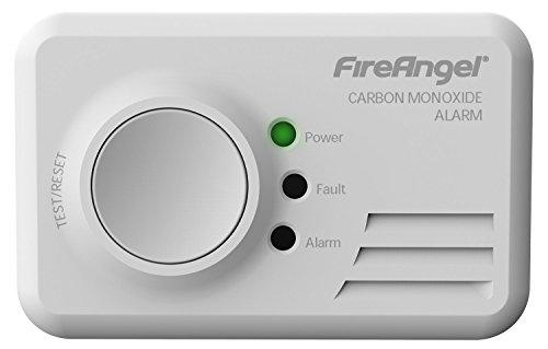 FireAngel - Rilevatore di monossido di carbonio con allarme, durata 10 anni, gruppo batteria sigillato