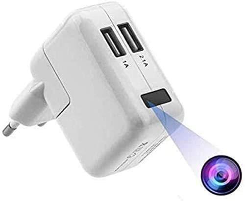 FiveSky 1080P Telecamera Nascosta Telecamera Spia WiFi Cam Caricatore USB Microcamere Spia Rilevazione del Movimento Videocamera di Sorveglianza Controllo APP+Testa di ricarica europea