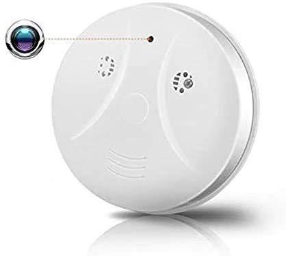 FiveSky Telecamera Nascosta Wifi 1080P HD Telecamera Spia Wifi Rivelatore di Fumo Nascosta Spy Camera con Visione Notturna Microcamere Spia Senza fili Videoregistratore Spy Cam per Interno