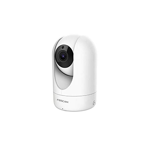 Foscam R4 - Telecamera IP Wi-Fi, Ultra HD 4.0 Megapixel, Motorizzata PTZ con Zoom 6x, Visione notturna, Motion Detection, E-mail Alert, microSD slot, ONVIF, P2P Plug & Play, Foscam Cloud, Bianco