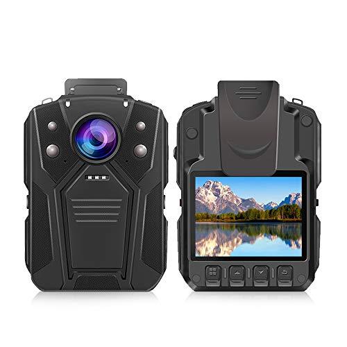 Fotocamera corpo CAMMHD HD 1296P fotocamera della polizia, due batterie, con visione notturna a infrarossi, 36 milioni di pixel, registratore impermeabile, fotocamera indossabile, 64GB