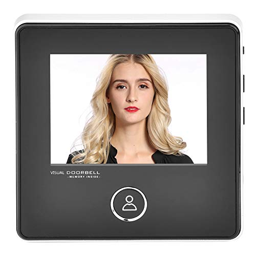Garsent Spioncino della Porta Digitale, Campanello Video della videocamera per la Visione Notturna di 120 Gradi con visore ad Angolo visuale HD con Monitor LCD da 3 Pollici