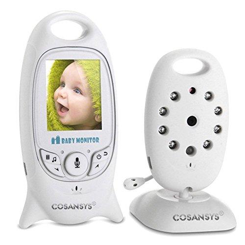 GEEDIAR Wireless Video Baby Monitor con Fotocamera Digitale Visione Notturna Monitoraggio della Temperatura e citofono