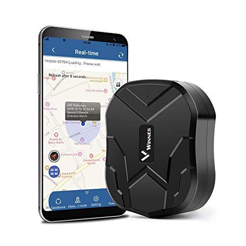 GPS Tracker, TKSTAR Tracciatore di Posizione GPS per Auto / Veicoli Tramite App Gratuita, Localizzatore GPS Con Geo-Fence Magnete Potente e Batteria da 10000mAh