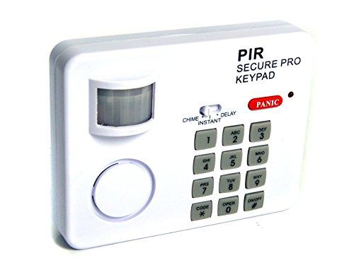 Grovendo - Sistema di allarme interno PIR con sensore di movimento e sirena, con ingresso PIN