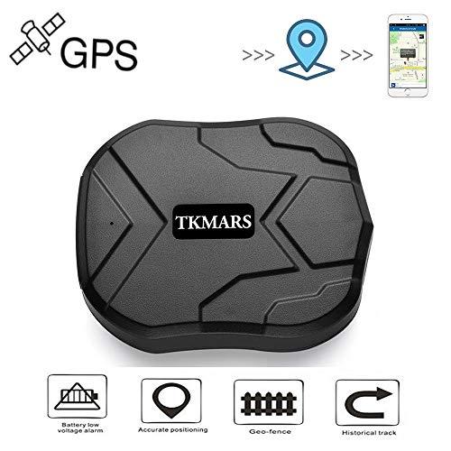 Hangang GPS Tracker ,GPS Tracker per Auto Forte Magnetico 3 mesi di GPS Inseguitore Ricaricabile Standby per il Veicolo Car Truck Posizionamento in Tempo Reale Dispositivo Antifurto GPS