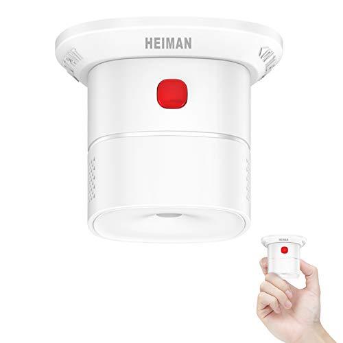 """HEIMAN - """"Mini CO"""", rilevatore di monossido di carbonio EN 50291, certificato per una durata del sensore di 10 anni, pulsante di prova, HS1CA"""