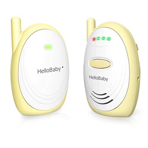 HelloBaby HB168 Baby Monitor Audio Digitale con Portata Fino a 1000 Piedi (Giallo)