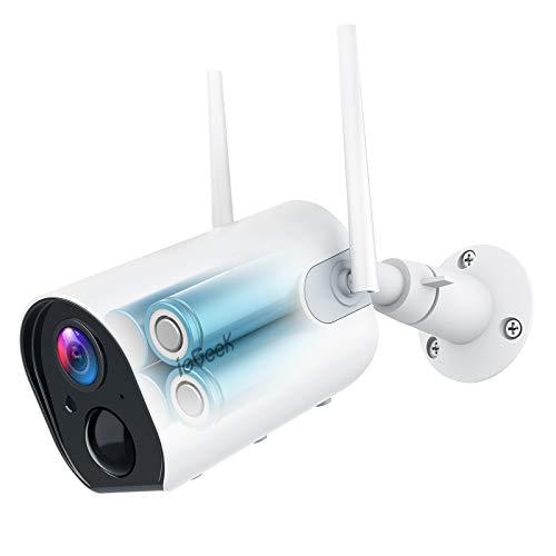 ieGeek Telecamera WiFi Interno/Esterno Senza Fili con 15000mAh Batteria, FHD 1080P Videocamera di Sorveglianza, Rilevazione PIR, Audio Bidirezionale, Visione Notturna, Compatibile con Scheda SD/Cloud