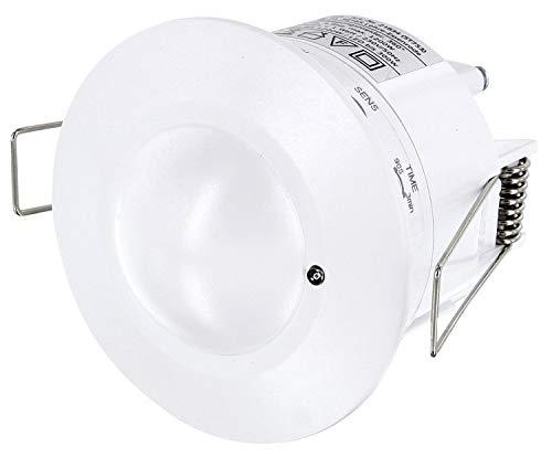 Incasso HF Radar rilevatore di movimento a 360° con sensore crepuscolare, ad alta frequenza HF 5,8gHz–adatto a lampadine LED–1W-1200W 230V