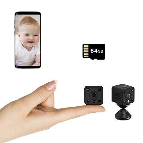 Insygrow ® Mini Telecamera Nascosta Scheda Sd 64 Gb Inclusa Microcamera Visione Notturna Hd Ready Micro Camera Wifi Per Interno Mini Cam Wifi Telecamere Microspie Professionali Nascoste