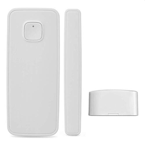 intelligente rivelatore di sensori magnetici per porte e finestre funziona con Alexa Google Home controllato da telefono Tablet iPhone per sistema di allarme antifurto di casa (1 confezione)