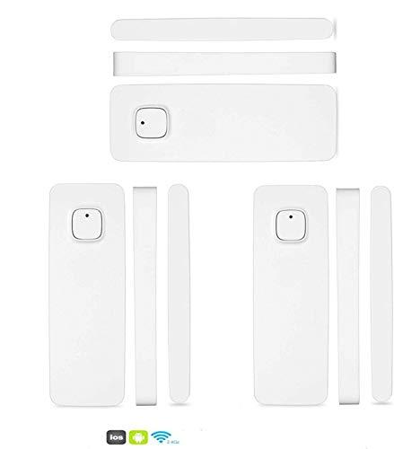 intelligente rivelatore di sensori magnetici per porte e finestre funziona con Alexa Google Home controllato da telefono Tablet iPhone per sistema di allarme antifurto di casa (3 confezione)