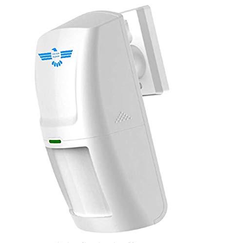 ITALIAN ALARM Sensore Movimento PIR Volumetrico Rilevatore antifurto allarme casa Wireless Senza Fili, compatibile con tutte le centrali ITALIAN ALARM, rileva anche al buio totale. Batterie incluse